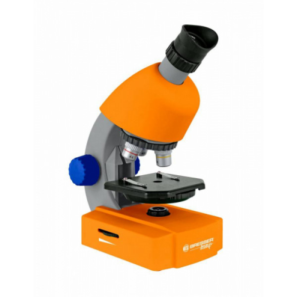 Bresser Junior 40x-640x mikroskops (oranžs)