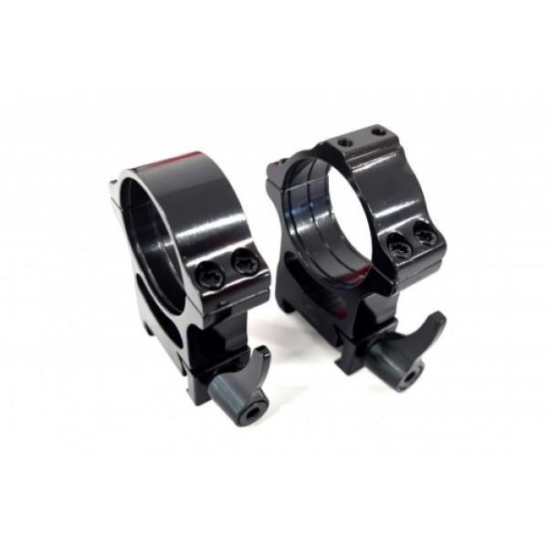 Rusan Weaver gredzeni (vienam gredzenam ir paredzēta vieta adapteriem) - 30mm, ātrais montējums, H20
